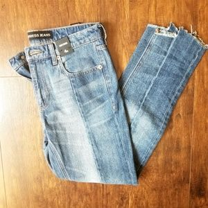 Express Two Tine Raw Hem Mid Rise Jeans Size 4